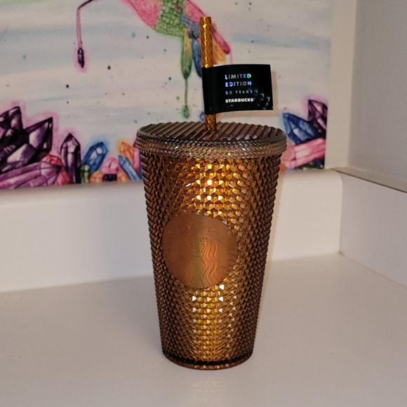 Starbucks 50th Anniversary Grande Gold Studded